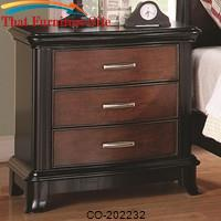 Josephina 3 Drawer Night Stand with Cherry and Mocha Finishes by Coaster Furniture