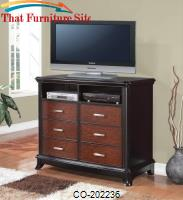 Josephina 6 Drawer Media Chest with Rectangular Metal Hardware by Coaster Furniture