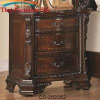 Maddison Nightstand w/ Carved Wood Detailing by Coaster Furniture