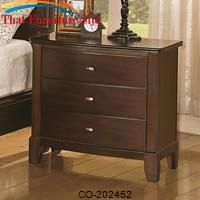 Addley Night Stand with 3 Drawers by Coaster Furniture