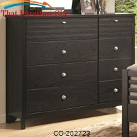 Richmond Eight-Drawer Dresser with Silver Toned Hardware by Coaster Furniture
