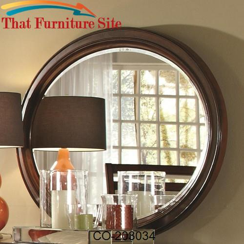 Ortiz Casual Round Mirror by Coaster Furniture  | Austin