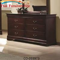 Louis Philippe 6 Drawer Dresser by Coaster Furniture