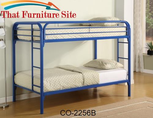 TWIN/TWIN BUNK BED, BLUE by Coaster Furniture  | Austin