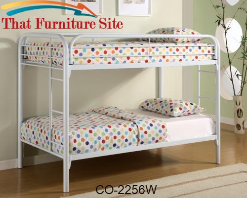 Fordham Twin Over Twin Bunk Bed with Built-In Ladders by Coaster Furni