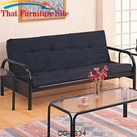 Futons Casual Metal Futon Frame by Coaster Furniture