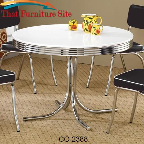 Cleveland Round Chrome Plated Dining Table by Coaster Furniture  | Aus
