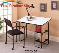 Desks Casual Drafting Desk with Chair and Lamp by Coaster Furniture