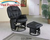 Recliners with Ottomans Leatherette Recliner with Matching Ottoman by Coaster Furniture