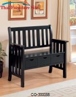 Benches Three Drawer Storage Bench by Coaster Furniture