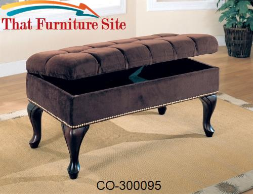 Benches Storage Bench with Tufted Buttons by Coaster Furniture  | Aust
