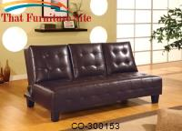 Sofa Beds Armless Convertible Sofa Bed with Drop Down Console by Coaster Furniture