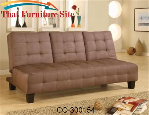 Sofa bed TAN constructed of a kiln dried hardwood frame by Coaster Fur