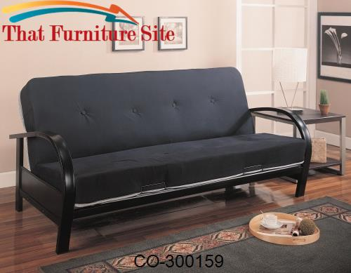 Futons Contemporary Metal Futon Frame by Coaster Furniture  | Austin