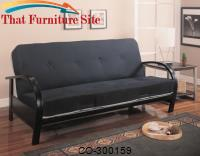 Futons Contemporary Metal Futon Frame by Coaster Furniture