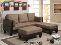 Fulton Contemporary Sofa Bed Group with 2 Ottomans by Coaster Furniture