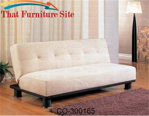 Sofa Beds Contemporary Armless Convertible Sofa Bed by Coaster Furnitu