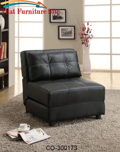 Accent Seating Contemporary Armless Lounge Chair/Sofa Bed by Coaster F