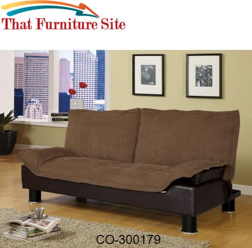 Futon  Sofa Bed is Stylish Brown and Comfortable by Coaster Furniture