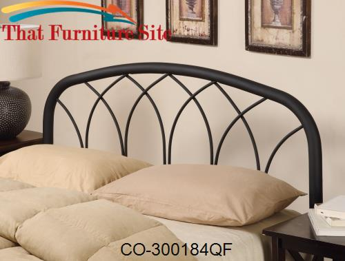 Iron Beds and Headboards Full/Queen Modern Black Metal Headboard by Co