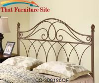 Iron Beds and Headboards Full/Queen Brown Metal Headboard by Coaster Furniture