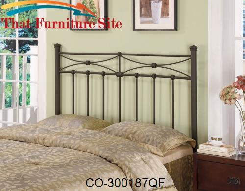 Iron Beds and Headboards Full/Queen Metal Headboard by Coaster Furnitu