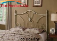 Iron Beds and Headboards Full/Queen White Metal Headboard by Coaster Furniture