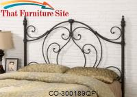 Iron Beds and Headboards Full/Queen Metal Headboard by Coaster Furniture