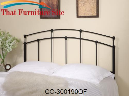 Iron Beds and Headboards Full/Queen Black Metal Headboard by Coaster F