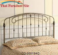 Iron Beds and Headboards Queen Iron Headboard w/ Soft Curves by Coaster Furniture