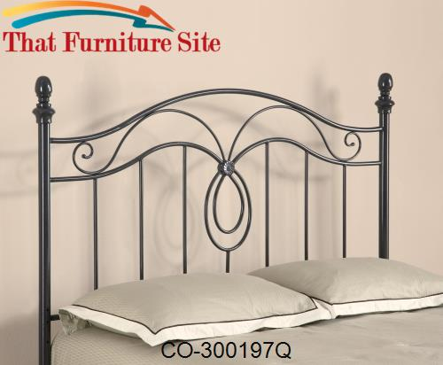 Iron Beds and Headboards Queen Iron Headboard by Coaster Furniture  |