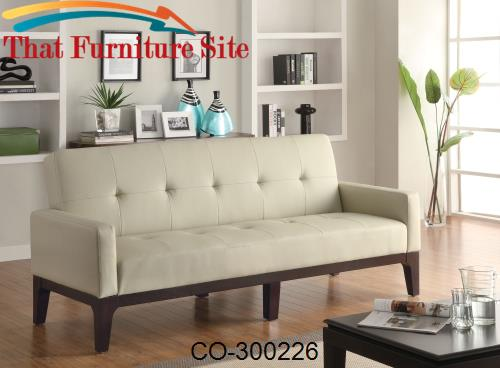 Sofa Beds Tufted Sofa Bed with Track Arms by Coaster Furniture  | Aust
