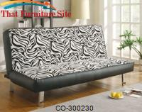 Sofa Beds Contemporary Styled Sofa Sleeper with Fold Down Futon Seat Back by Coaster Furniture