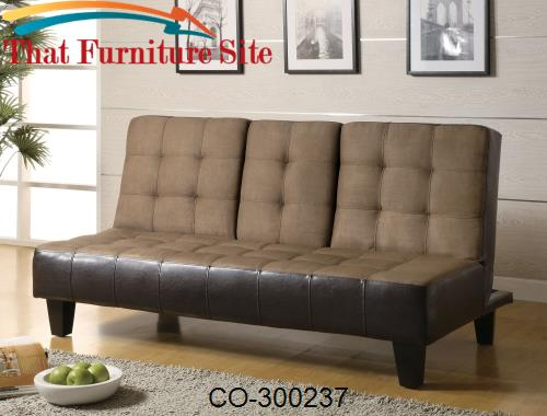 Sofa Beds Contemporary Two Tone Convertible Sofa Bed with Drop Down Co