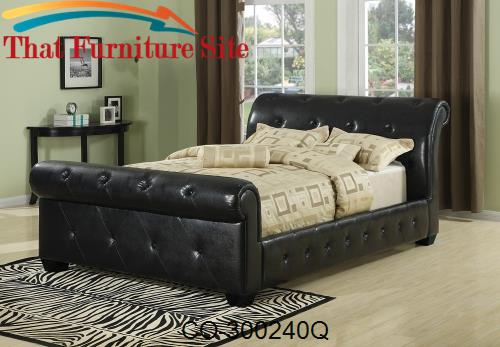Upholstered Beds Traditional Button Tufted Faux Leather Upholstered Qu