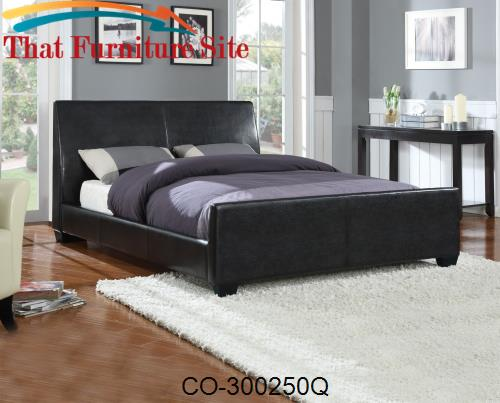 Upholstered Beds Contemporary Queen Upholstered Bed by Coaster Furnitu