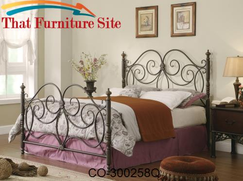 Iron Beds and Headboards Queen Iron Headboard & Footboard Bed with Scr