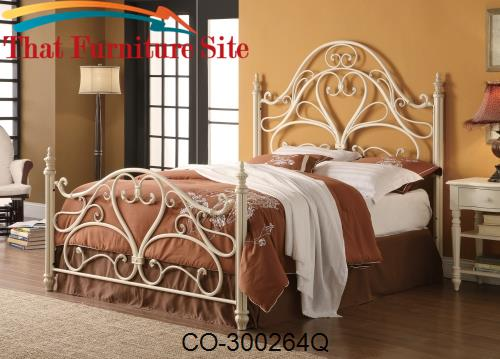 Iron Beds and Headboards Queen Ornate Metal Headboard & Footboard Bed
