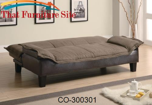 Sofa Bed Comfort  Wrapped in a Microfiber with a Durable Leather by Co