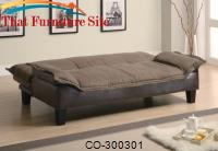 Sofa Bed Comfort  Wrapped in a Microfiber with a Durable Leather by Coaster Furniture