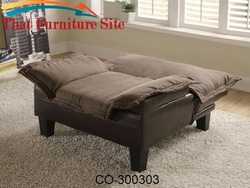 Mechanism a Plush Microfiber with a Durable Leather  Chair  Bed by Coa