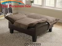 Mechanism a Plush Microfiber with a Durable Leather  Chair  Bed by Coaster Furniture