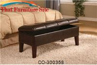 Lewis Upholstered Storage Bench by Coaster Furniture