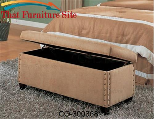 Lewis Upholstered Storage Bench by Coaster Furniture  | Austin