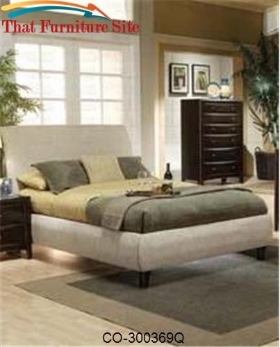 Phoenix Queen Contemporary Upholstered Bed by Coaster Furniture  | Aus