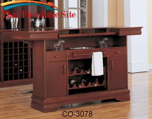 Lambert Traditional Bar Unit with Sink by Coaster Furniture  | Austin