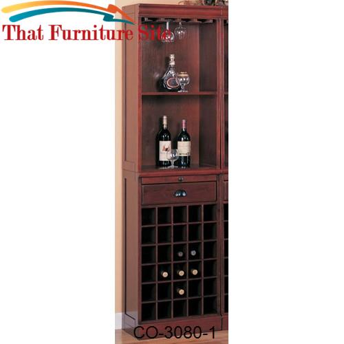 Lambert Traditional Wine Wall Bar Unit by Coaster Furniture  | Austin