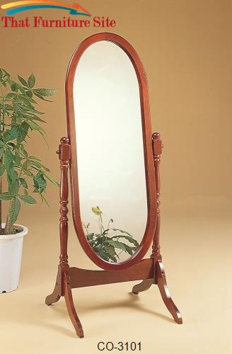 Accent Mirrors Cheval Oval Mirror by Coaster Furniture  | Austin
