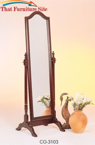 Accent Mirrors Cheval Mirror w/ Arch Top by Coaster Furniture  | Austi