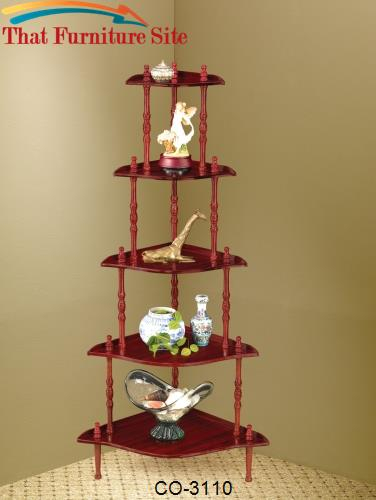 Accent Racks 5 Tier Corner Shelf Unit by Coaster Furniture  | Austin